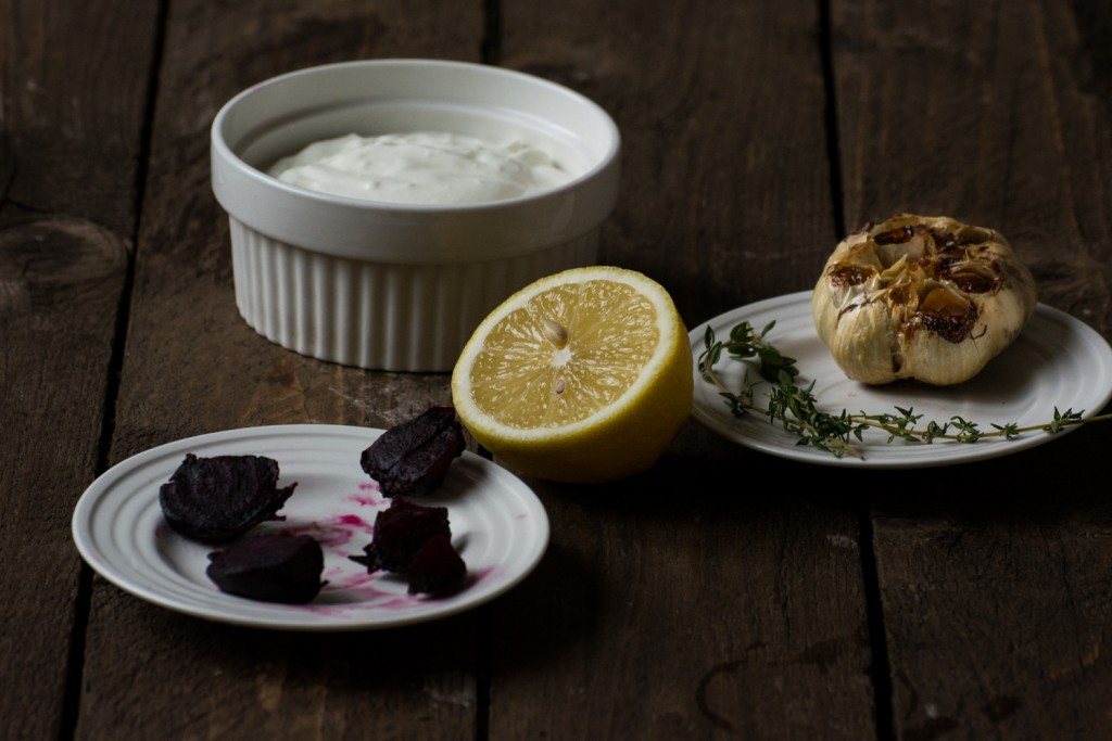 Greek yogurt beetroot sauce - ingredients