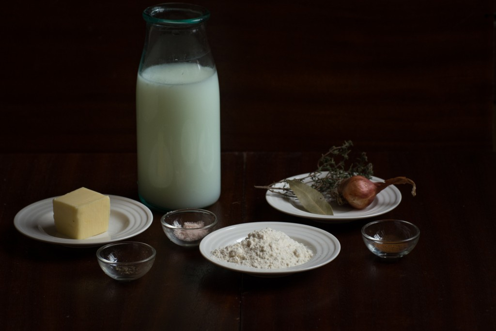 Bechamel sauce - ingredients