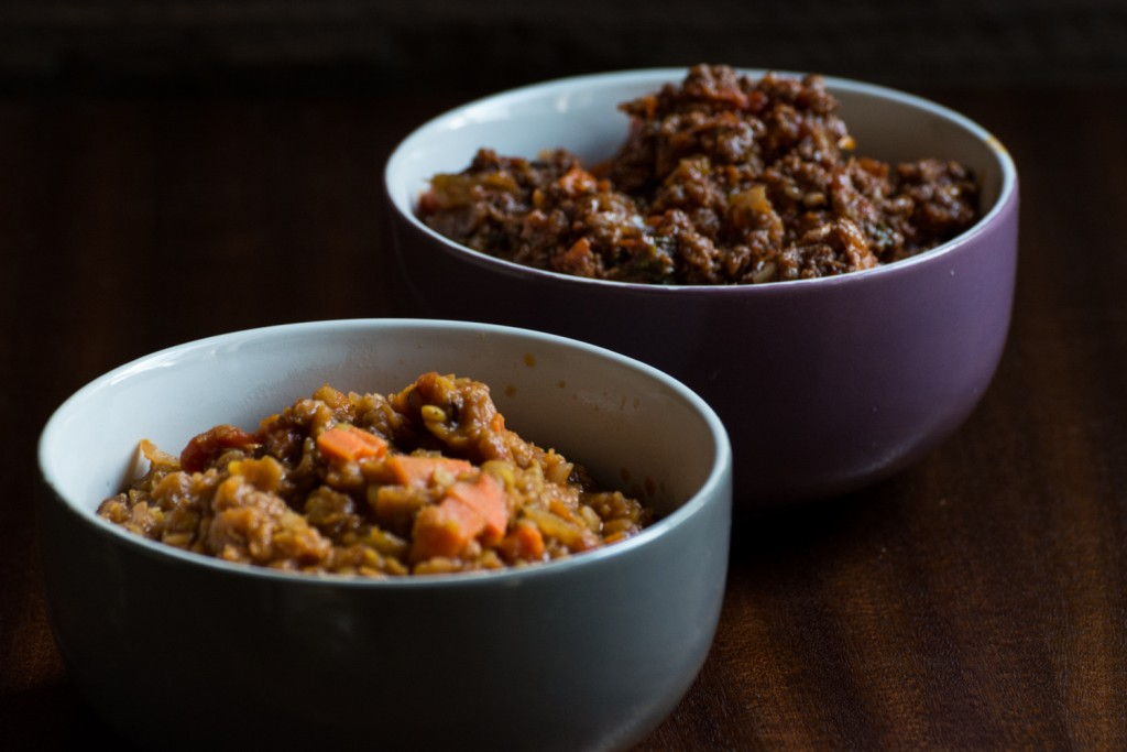 Beef and lentils ragu