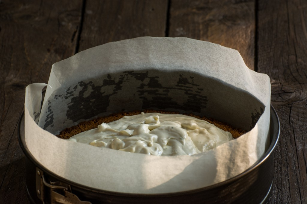 Lime cheesecake - texture