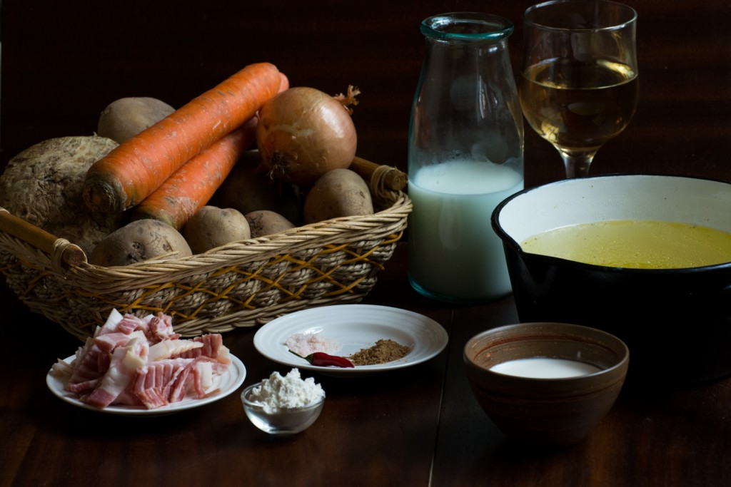 Potato soup - ingredients