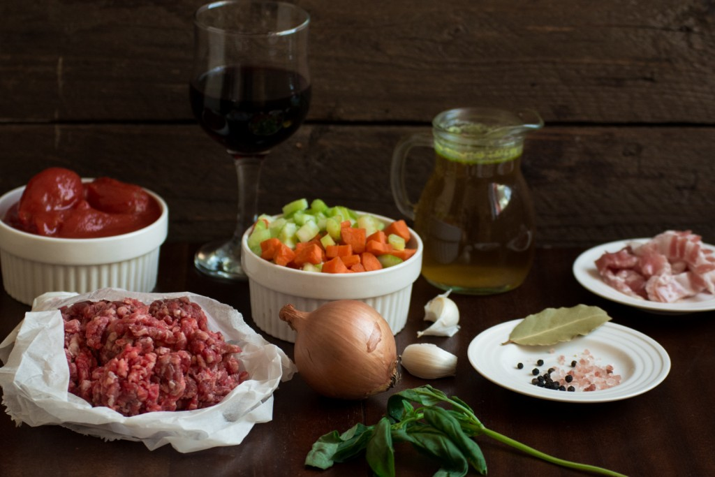 Ragu alla Bolognese- -ingredients