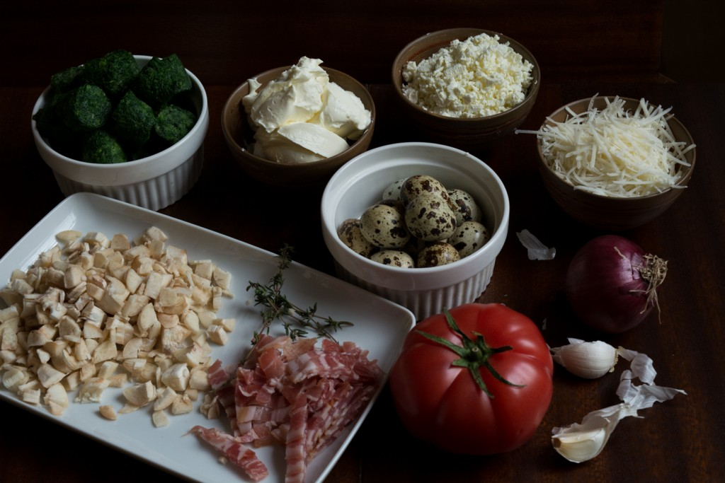 Stuffed mushrooms - ingredients