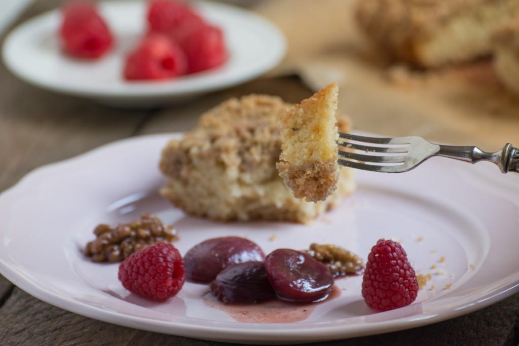 Crumb Cake - plating
