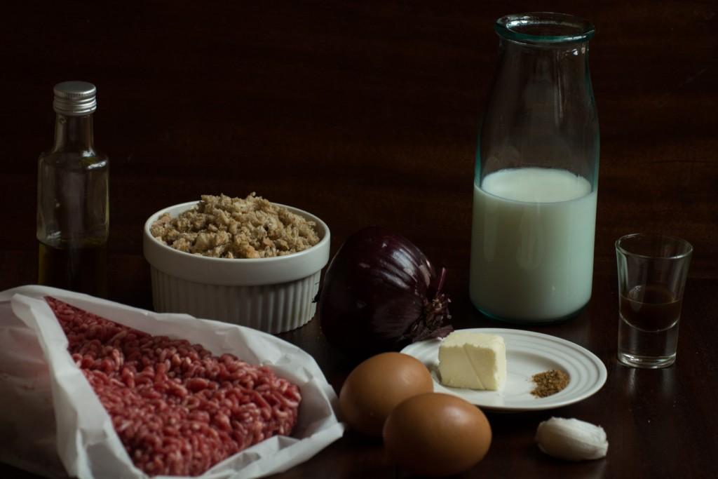 Meatballs - ingredients