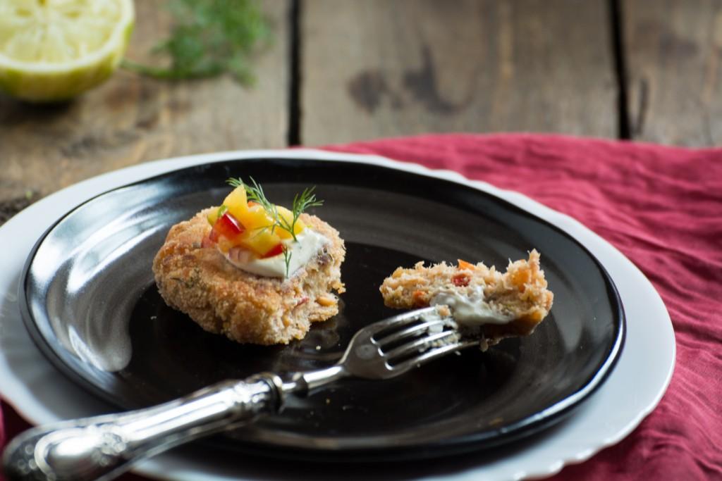 Salmon croquette - inside
