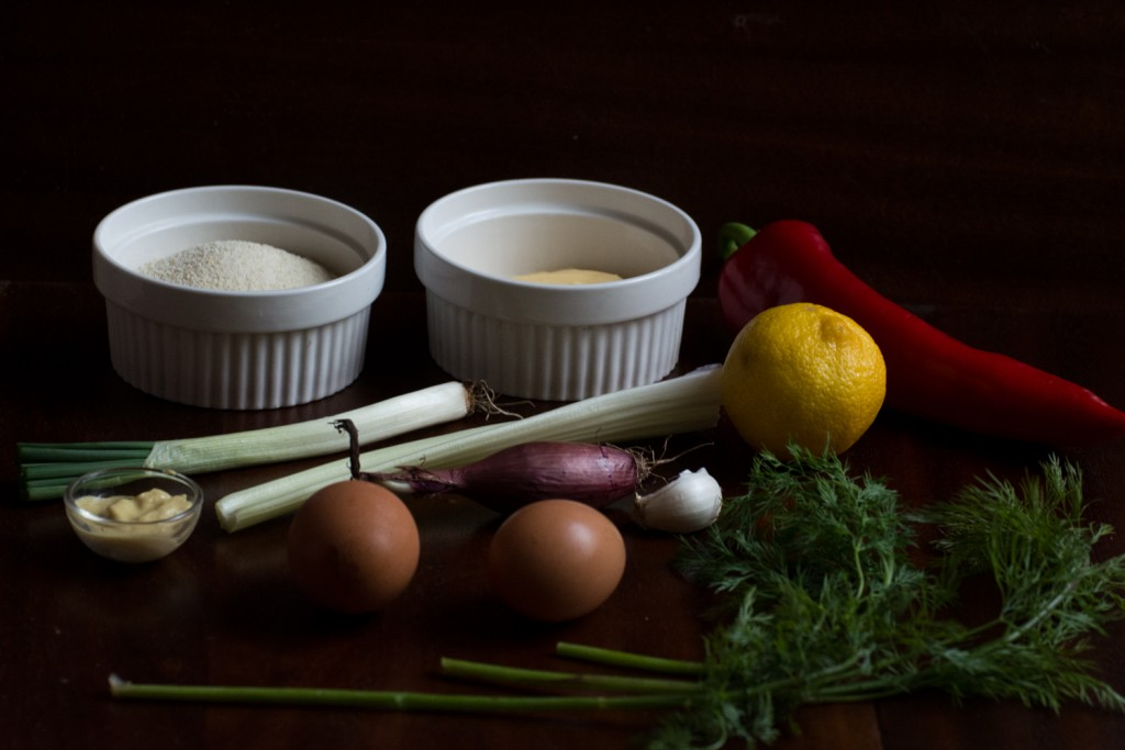 Salmon croquettes - ingredients