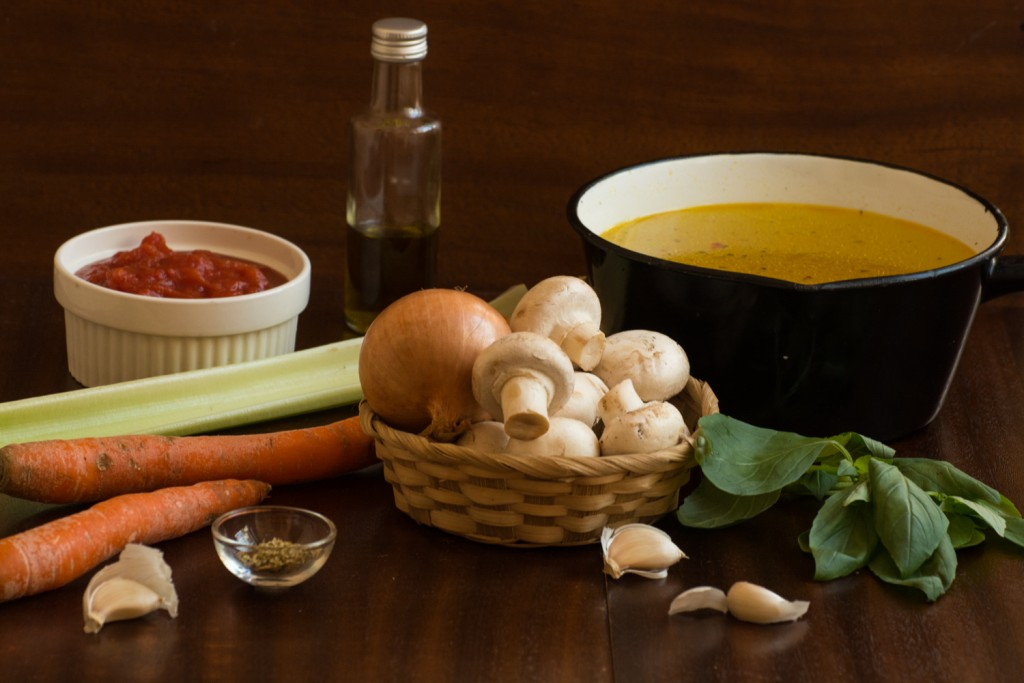 Spinach soup - ingredients