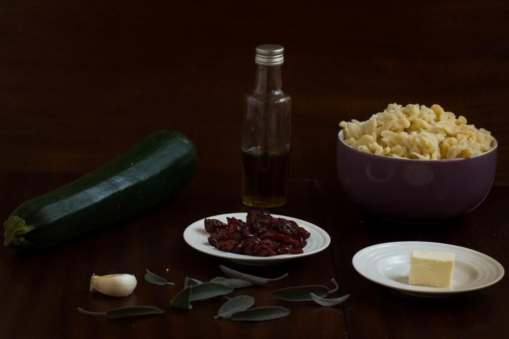 Zucchini & dumplings - ingredients