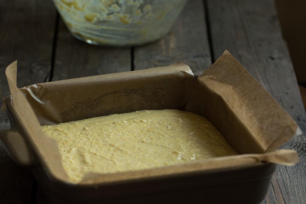 Cornbread - bofore baking