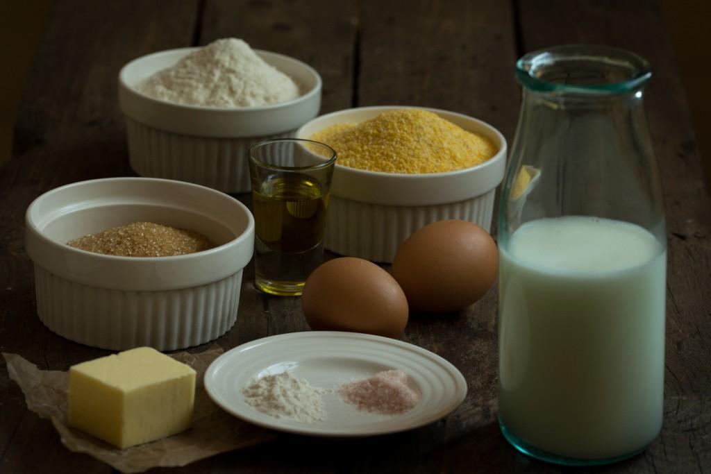 Cornbread - ingredients