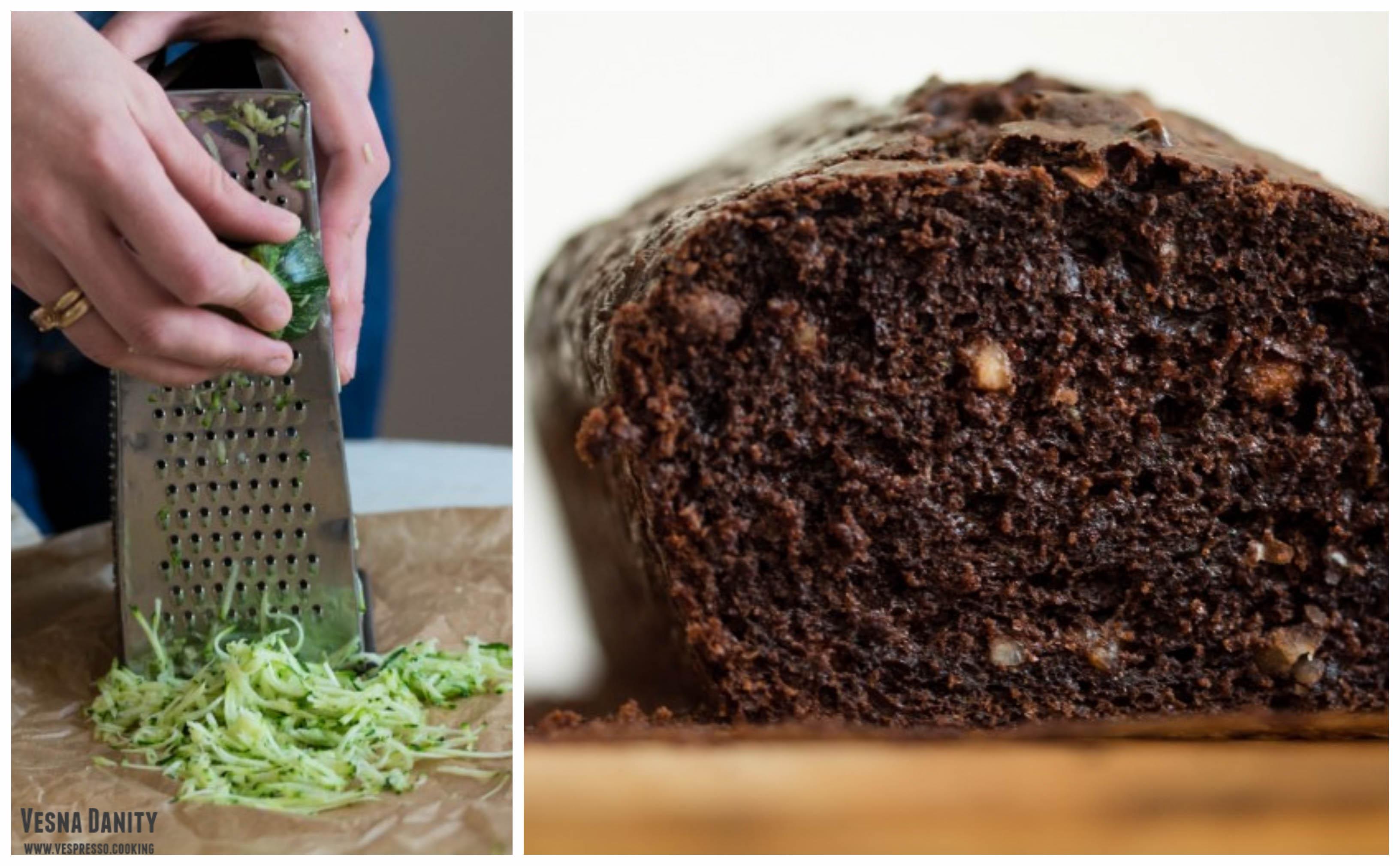 Chec cu zucchini, ciocolată și alune de pădure (Zucchini Bread)