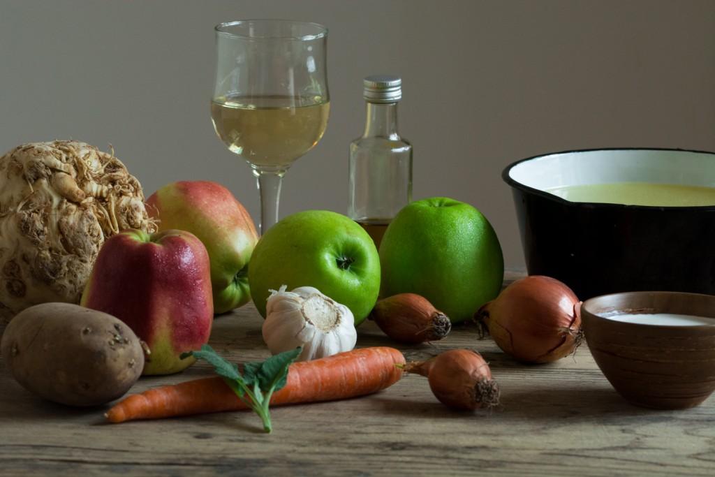 Celeriac soup - ingredients