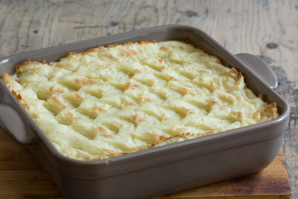 Cooked cottage pie