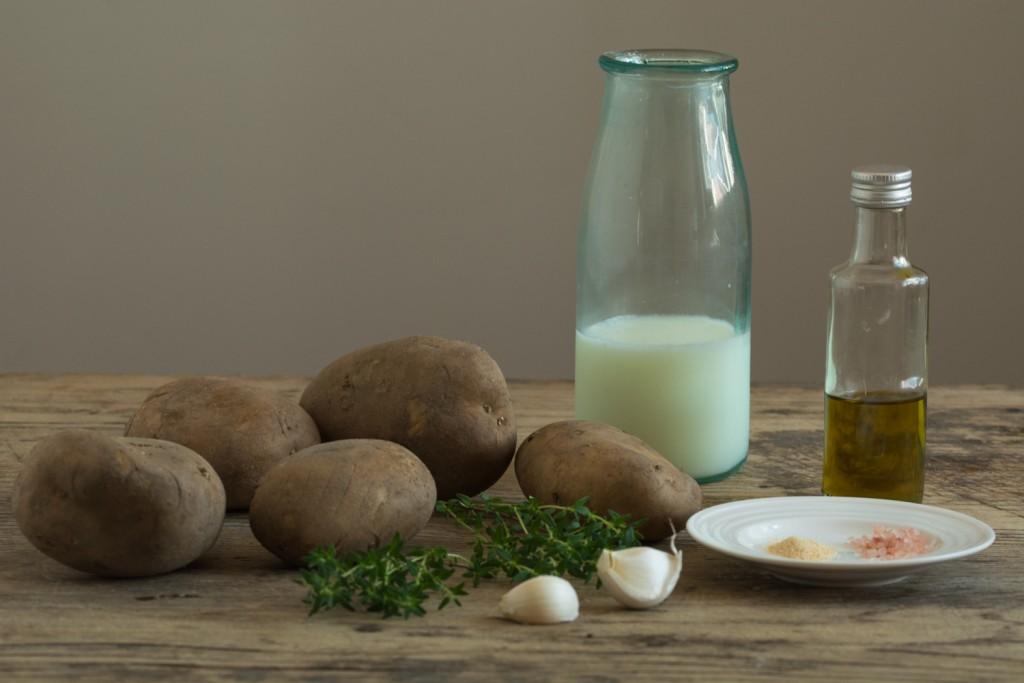Mashed potatoes - ingredients