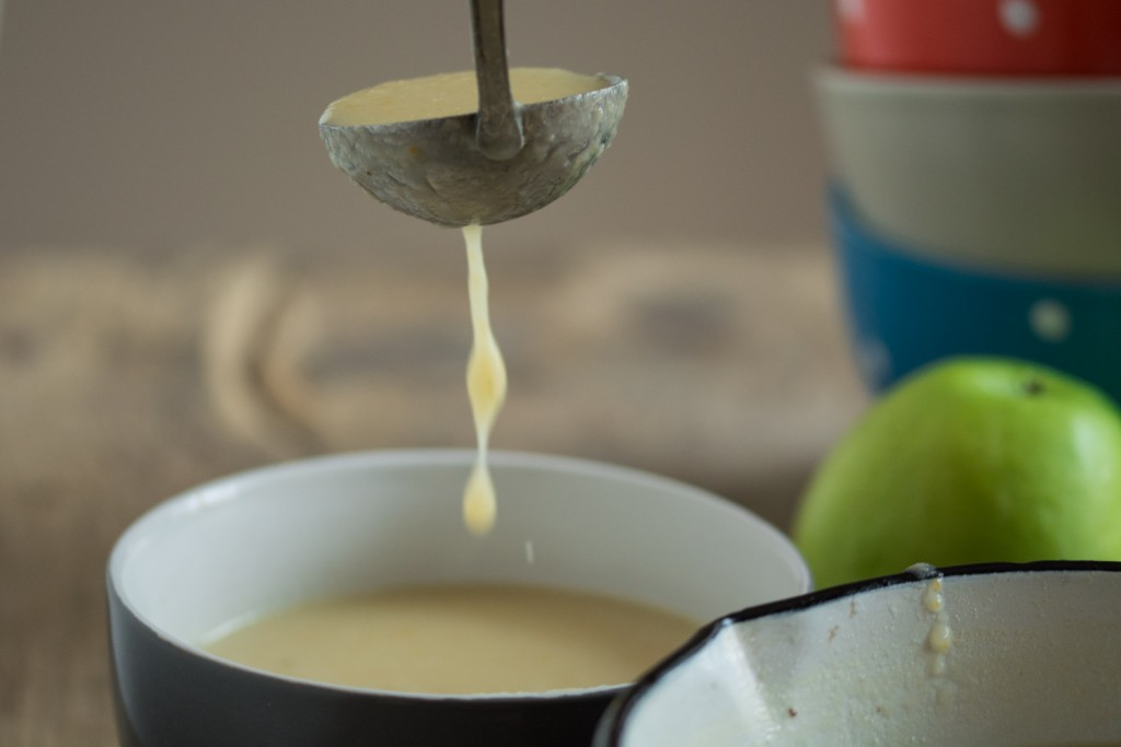 Pouring soup