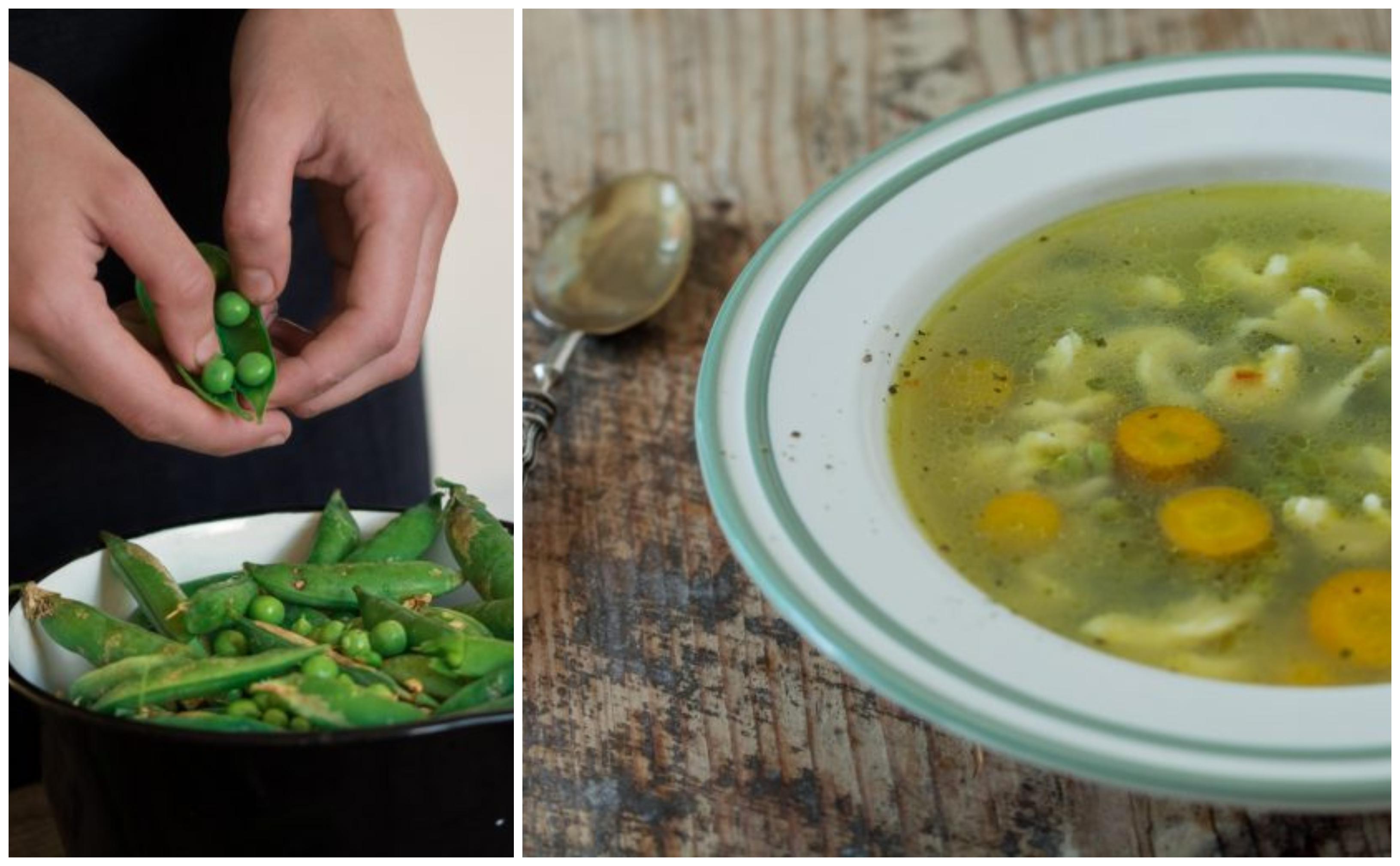 Supă de mazăre cu găluște