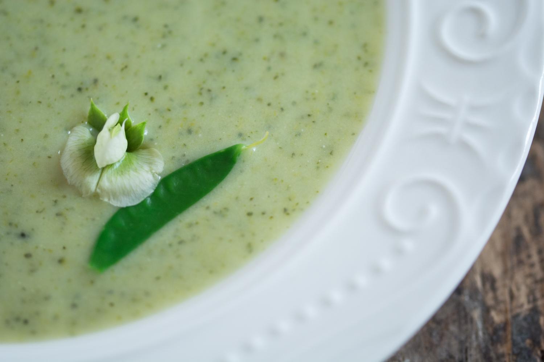 Pouring Soup Broccoli Soup