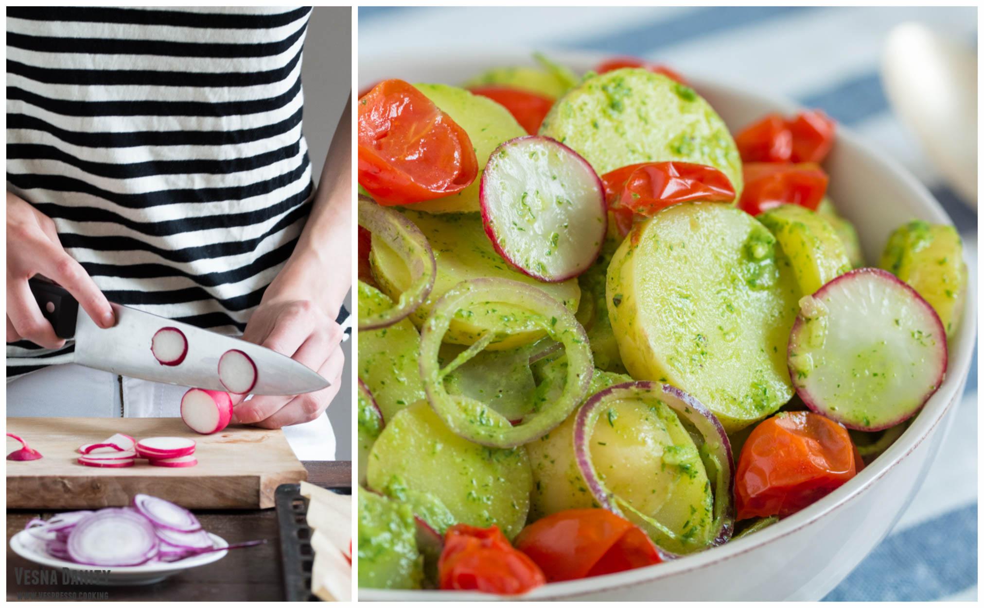 Salată de cartofi noi (vegan / de post)