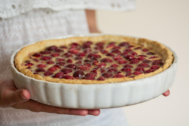 Cherry&custard tart