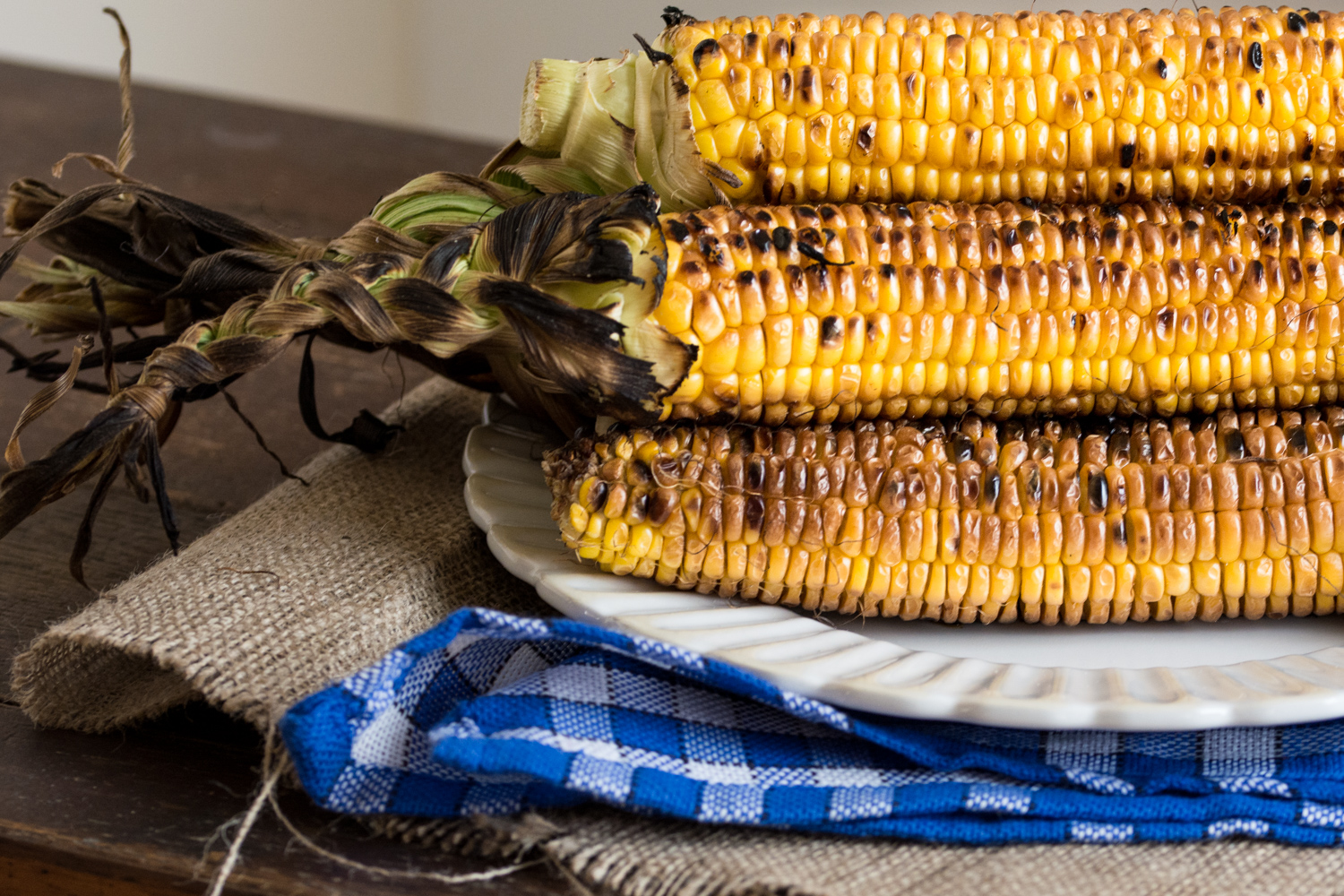 Grilled corn and butter