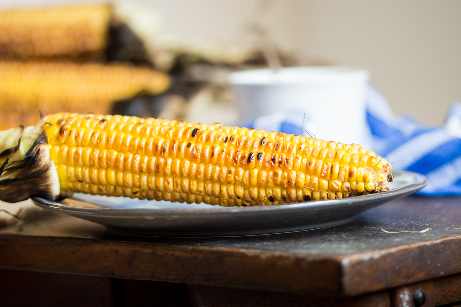 Grilled corn & butter