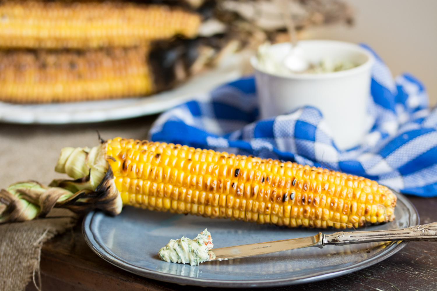 Herbed butter & corn