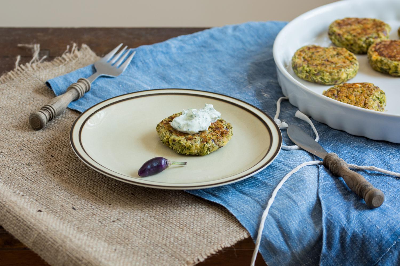 Zucchini cake - plating
