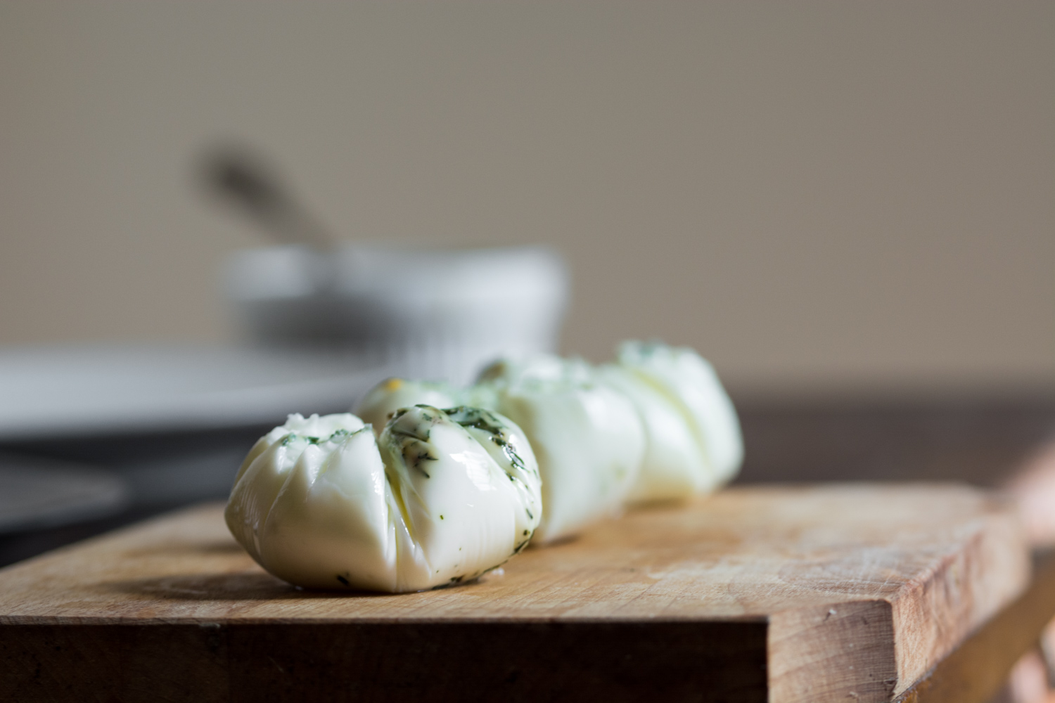 Poached herb egg whites