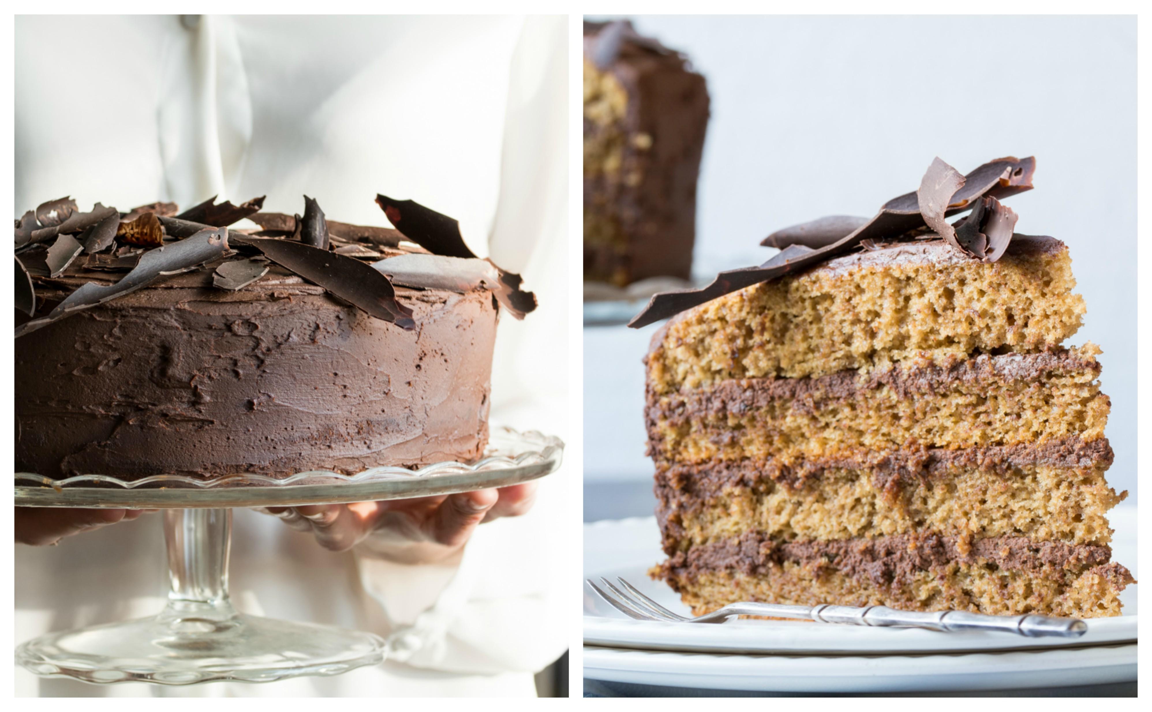 Tort Mocha (Tort de cafea cu cremă Ganache)