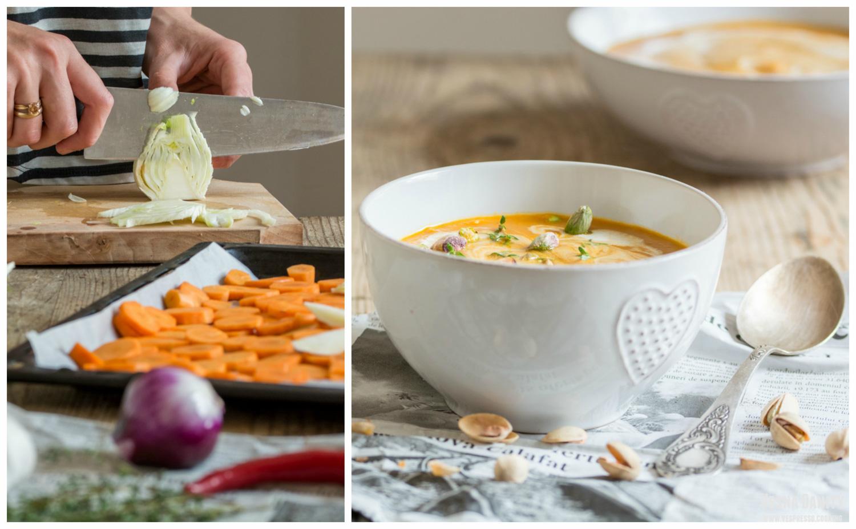Supă-cremă de morcovi și fenicul (vegan / de post)