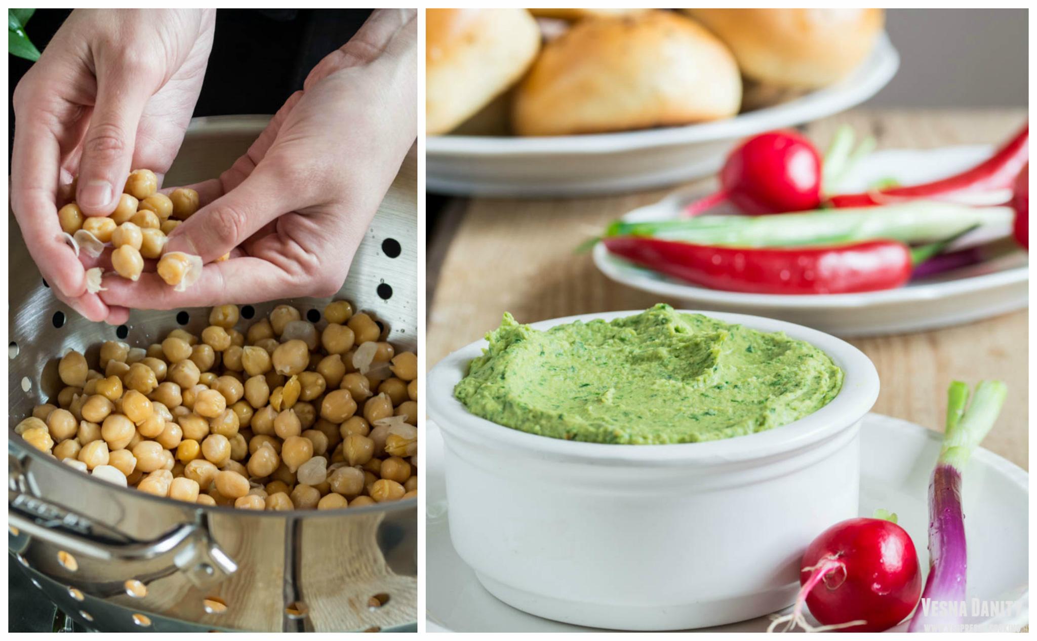 Hummus cu leurdă (vegan / de post)