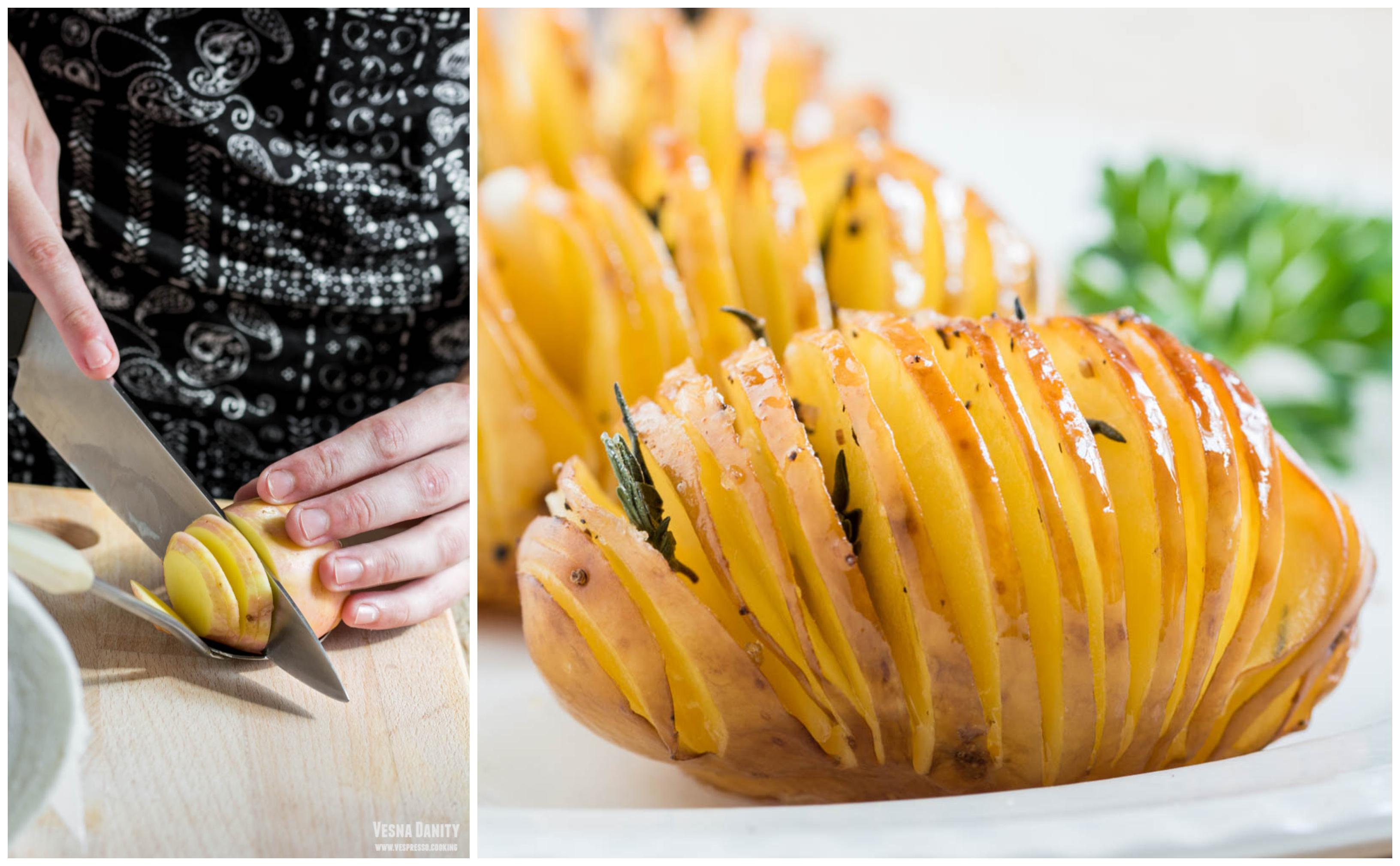 Cartofi Hasselback (vegan / de post)
