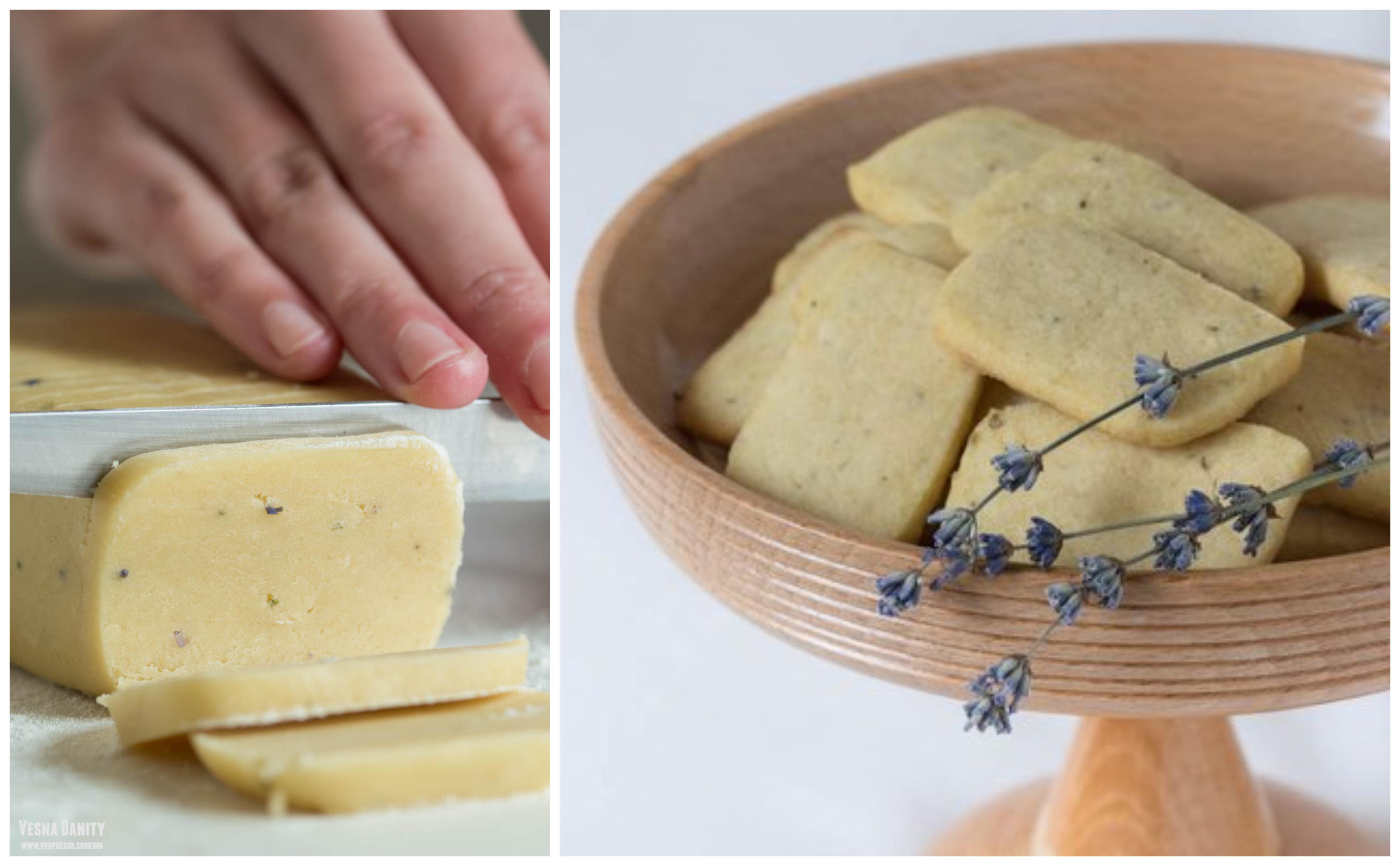 Biscuiți shortbread cu lavandă (vegan / de post)