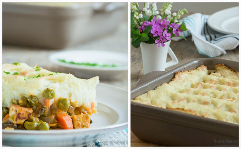 Cottage pie (plăcintă țărănească irlandeză) vegană