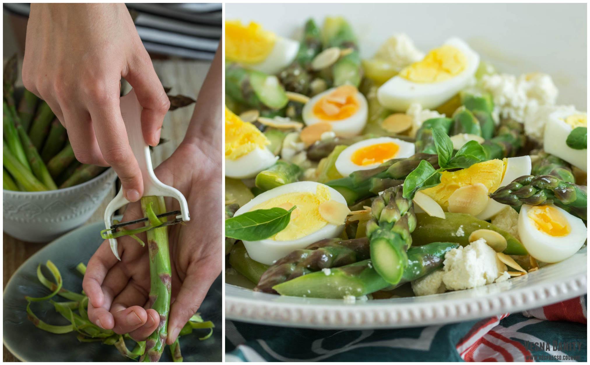 Salată de sparanghel cu ou și ricotta