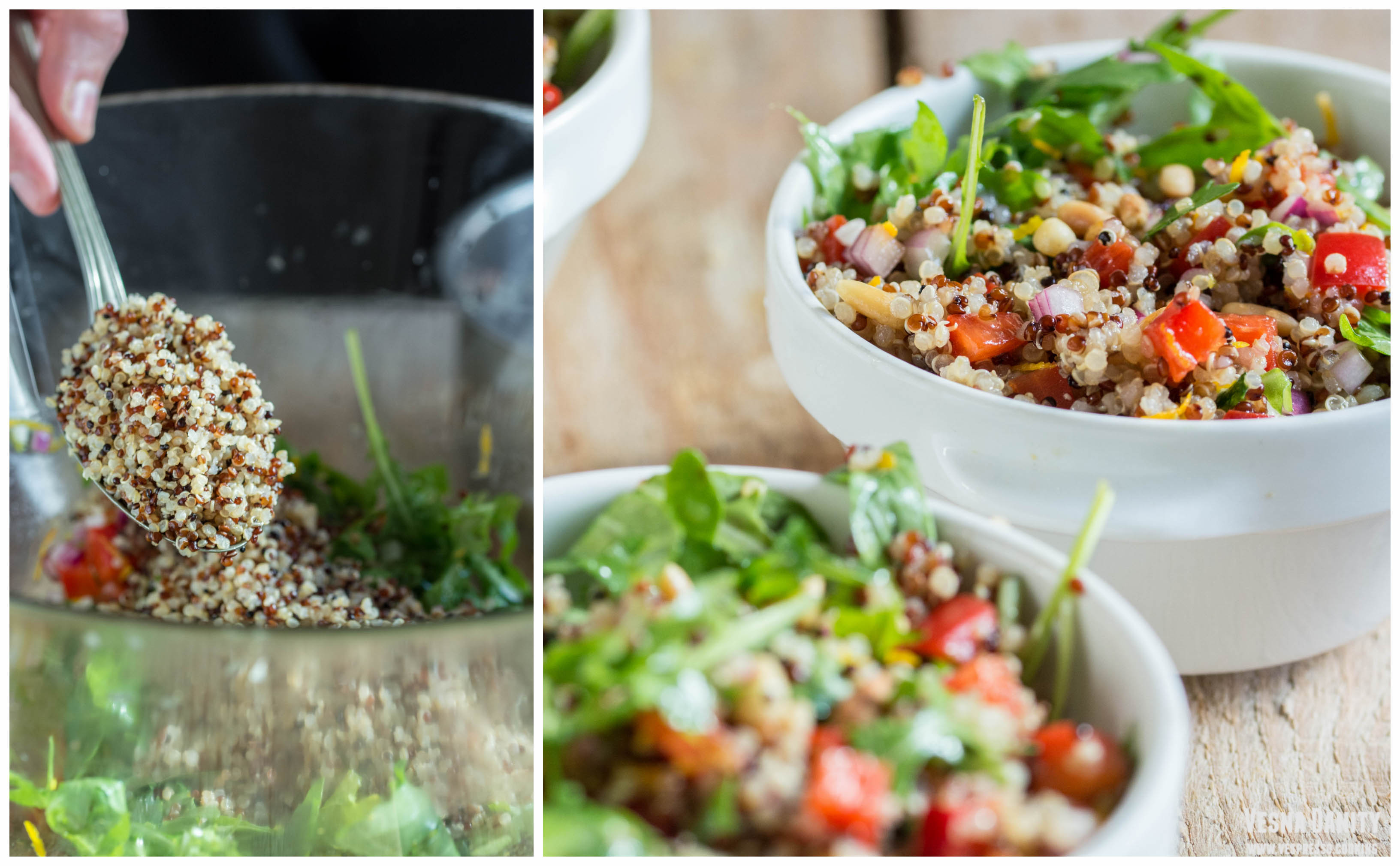 Quinoa Salad with Arugula and Bell Pepper (Vegan)