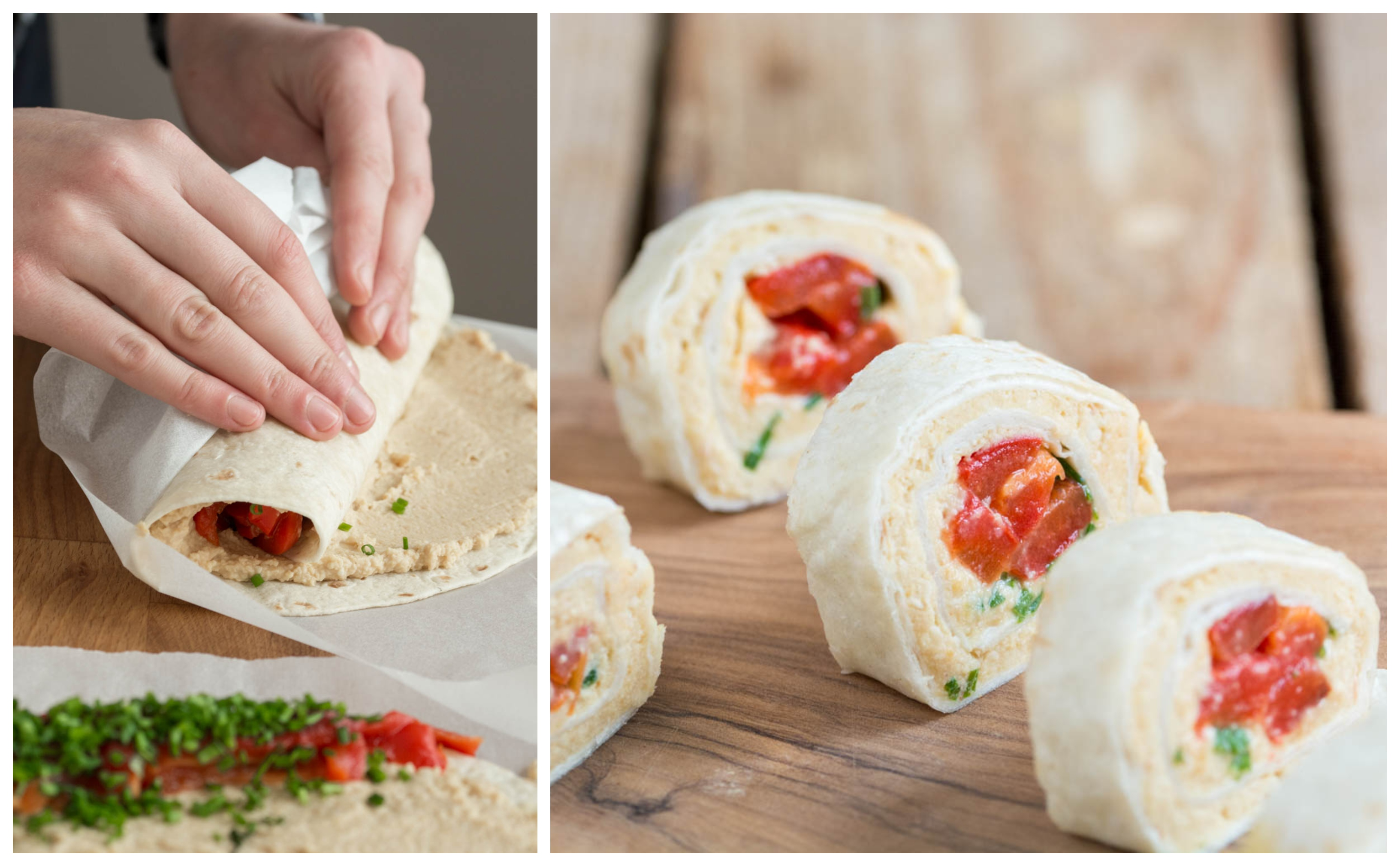 Hummus & Bell Pepper Tortilla Wrap (Vegan)