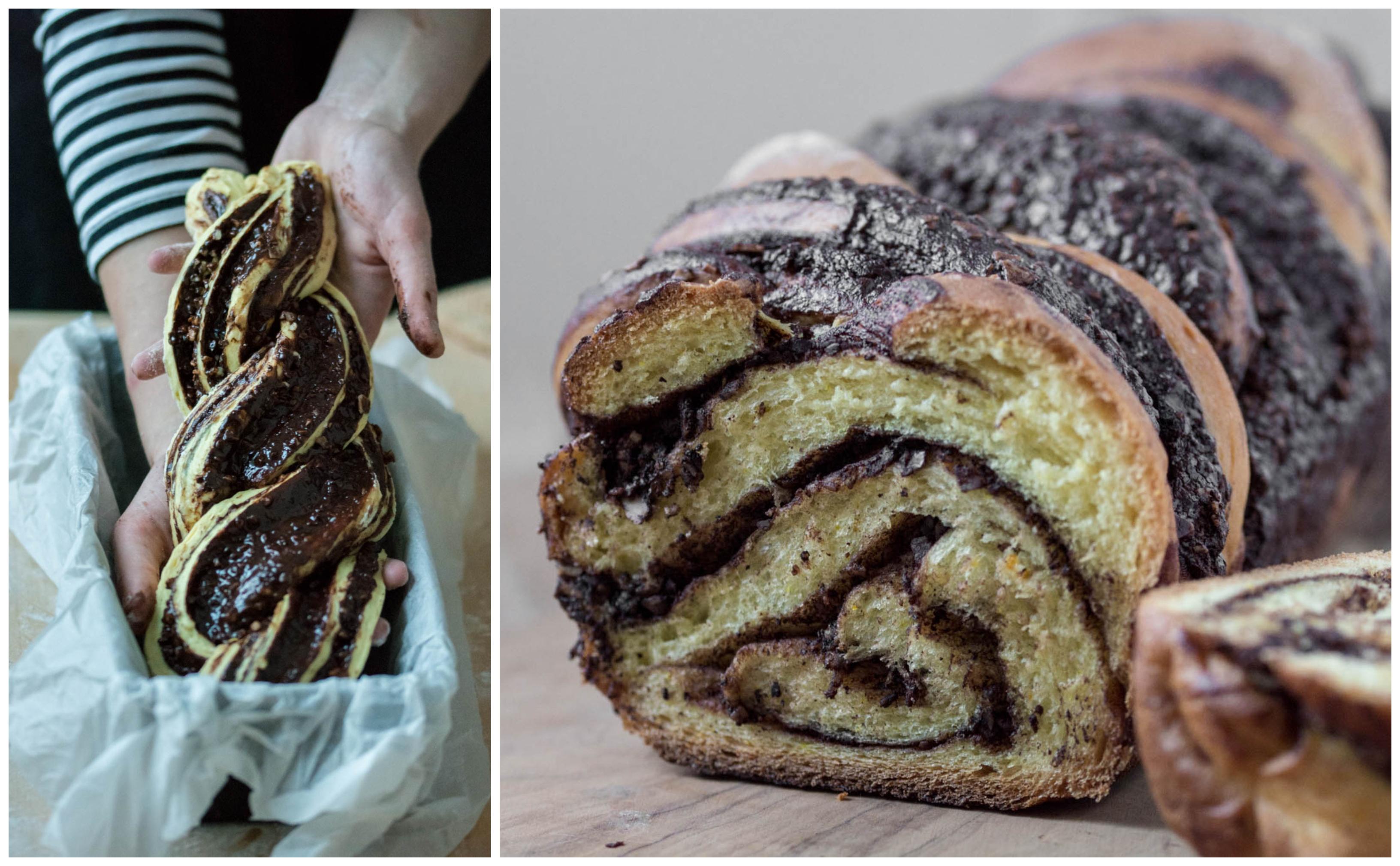 Babka – cozonac cu ciocolată și migdale (vegan / de post)