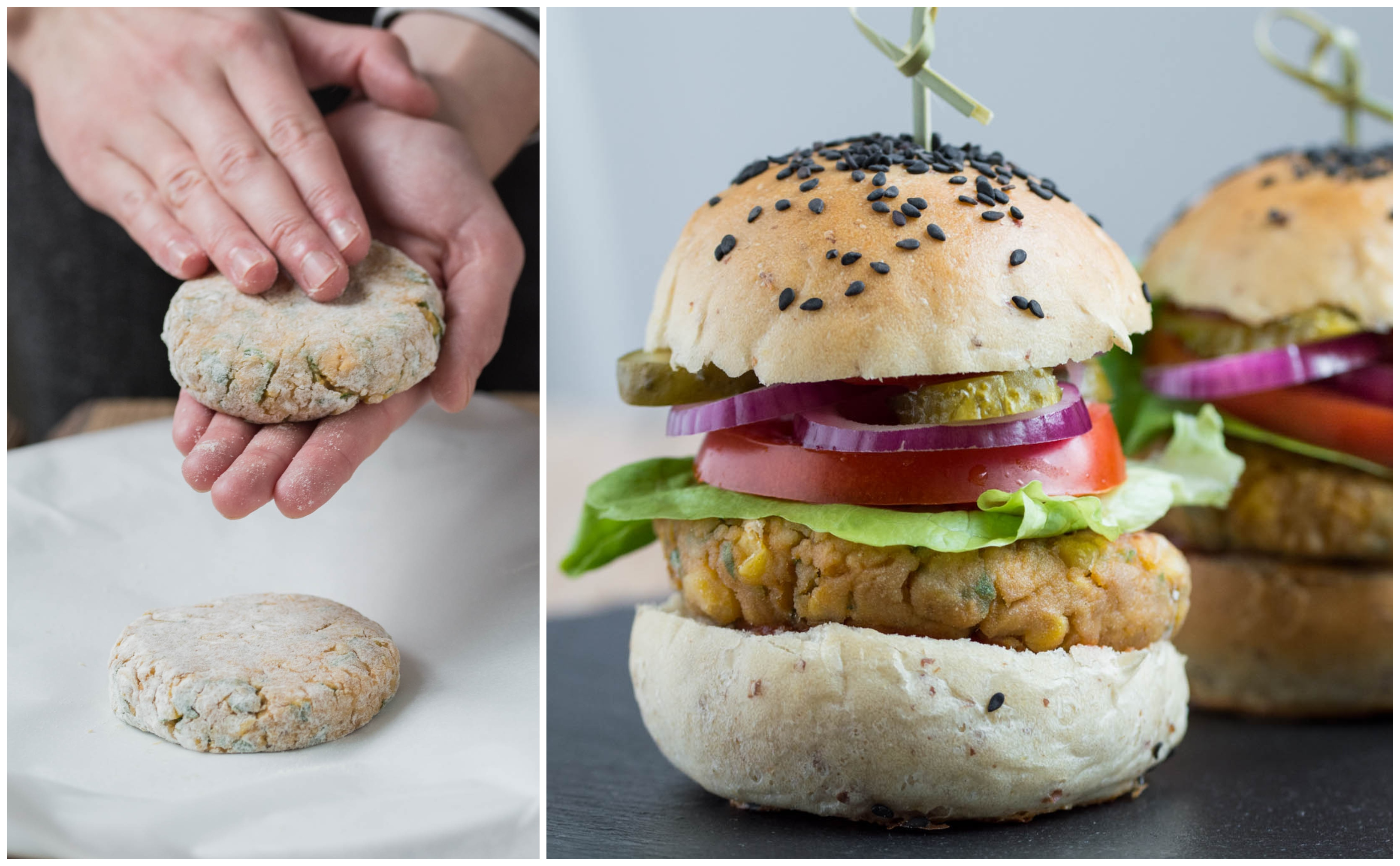 Chickpea & Corn Burger (Vegan)